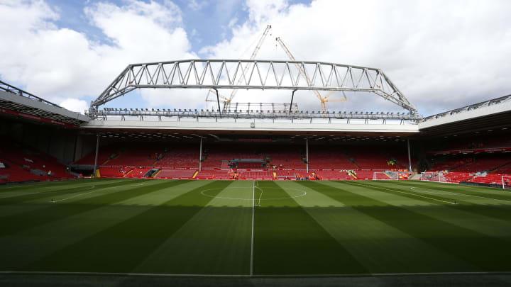 Eines der berühmtesten Stadien der Fußballwelt: das Stadion an der Anfield Road in Liverpool