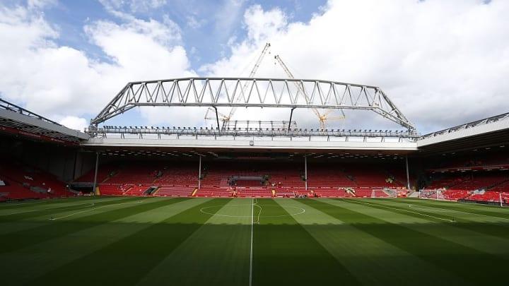 Kabaks Heimat für die kommenden Monate: das legendäre Stadion an der Anfield Road