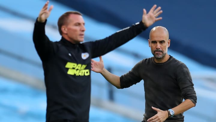 Brendan Rodgers and Pep Guardiola will meet at Wembley