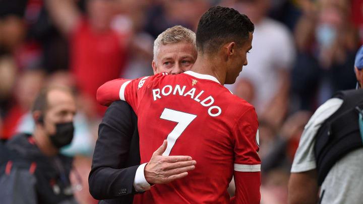 Solskjaer, et Cristiano Ronaldo avec Manchester United cette saison
