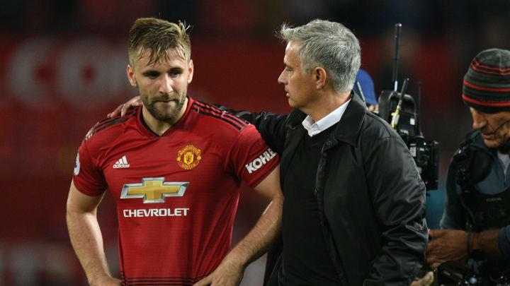 Luke Shaw dan Jose Mourinho