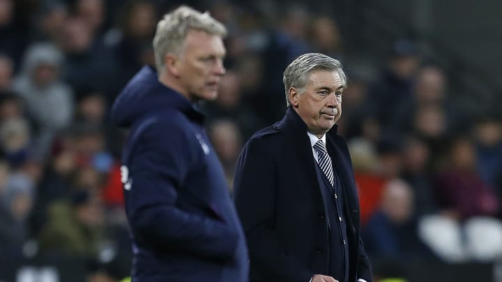 Moyes and Ancelotti on the touchline