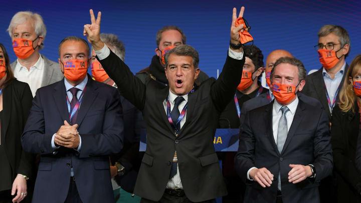 Joan Laporta wurde mit überwältigender Mehrheit zum neuen Barca-Präsidenten gewählt.