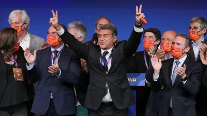 Joan Laporta bei seiner Wahl zum Präsidenten.