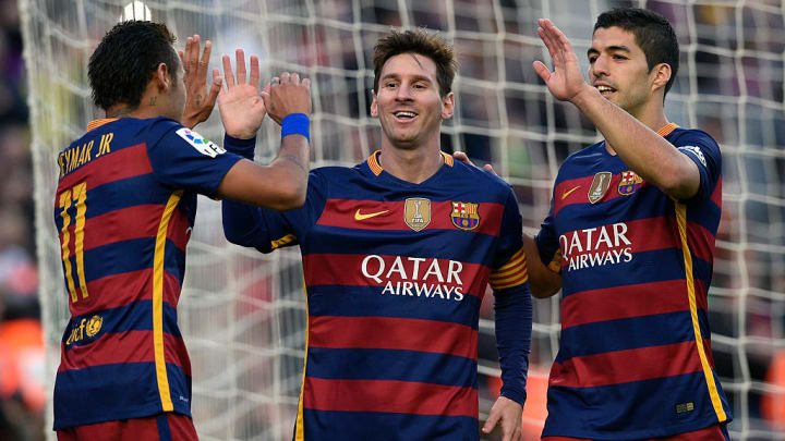 In the trio's first season together, Messi, Neymar and Suárez scored a combined 122 goals across all competitions