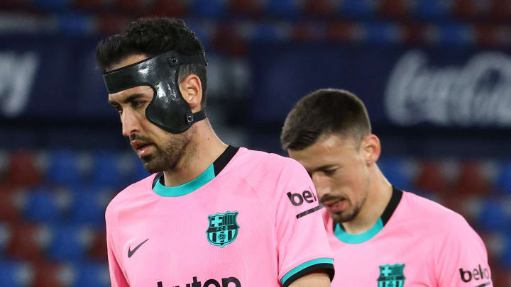 Busquets admitted Barcelona's La Liga titles hopes are practically over Levante draw