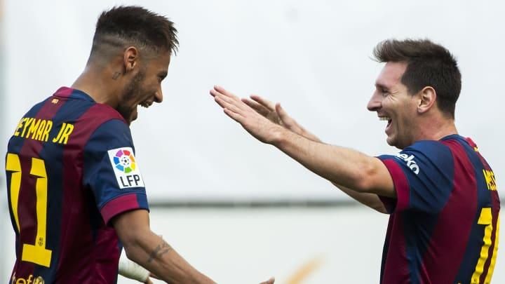 So würden beide wieder gerne zusammen jubeln: Neymar und Leo Messi