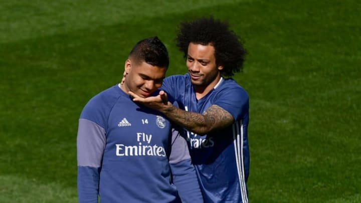 Real Madrid Marcelo Casemiro Friends Reunião Courteney Cox