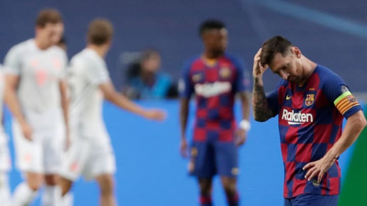 Lionel Messi et le Barça lors de la désillusion face au Bayern en Ligue des Champions