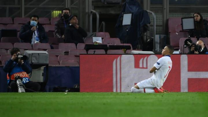 Mbappe scored a hat trick against Barcelona