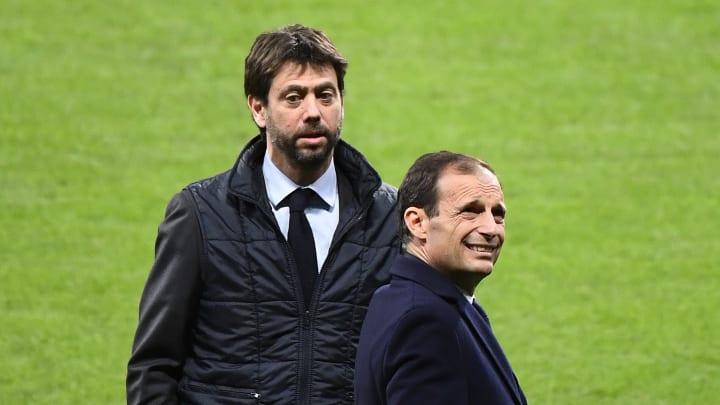 Andrea Agnelli e Massimiliano Allegri