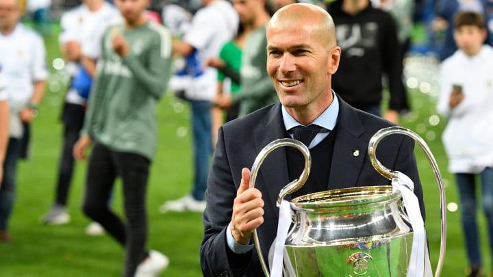 Zidane lleva tres Champions como entrenador