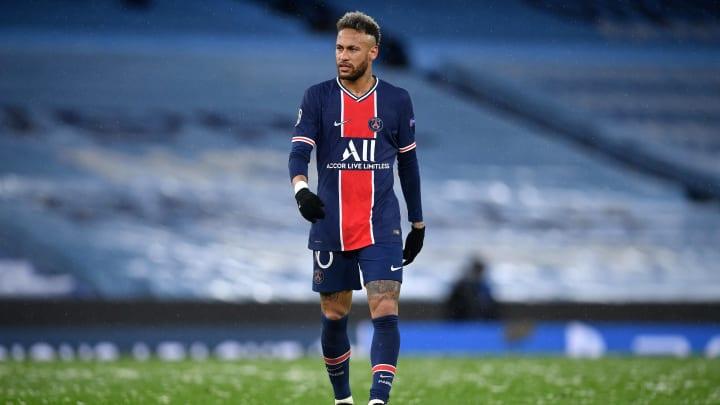 Neymar não fez um bom jogo no Etihad Stadium