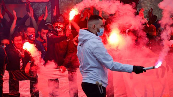 Les supporters du PSG sont en feu avant le match retour contre Manchester City