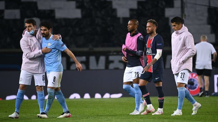There were contrasting emotions at full-time for Man City and PSG