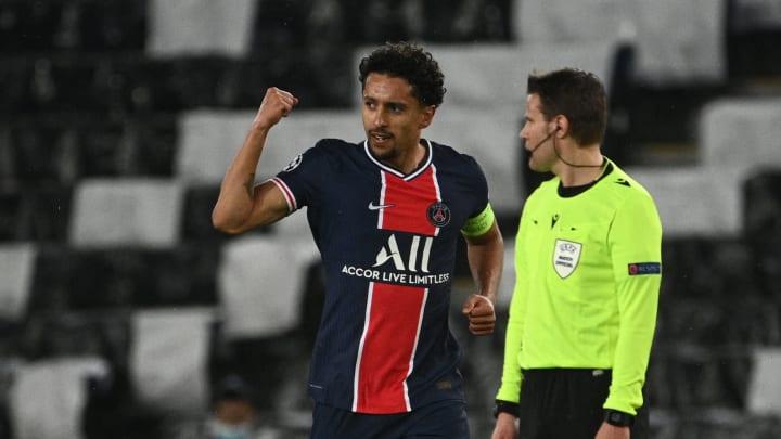 Marquinhos anotou o único gol do Paris na derrota por 2 a 1 para o City