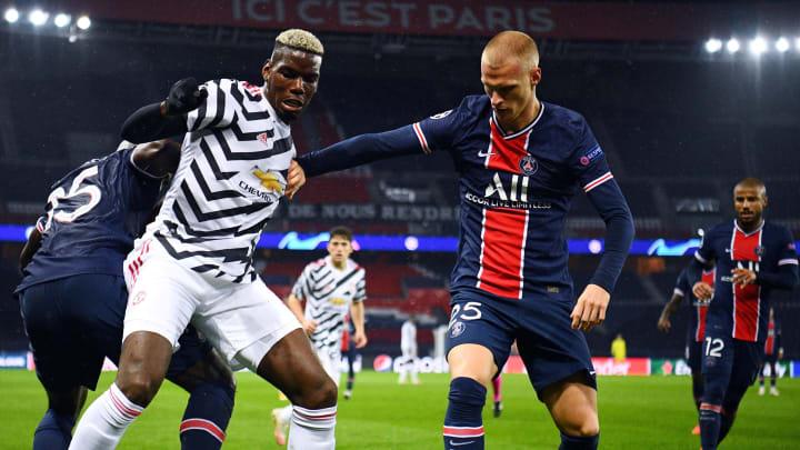 Paul Pogba jugando contra el PSG