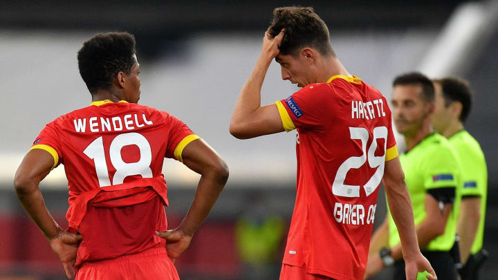 Wieder hat´s nicht gereicht: Wendell und Havertz nach dem Aus gegen Inter Mailand