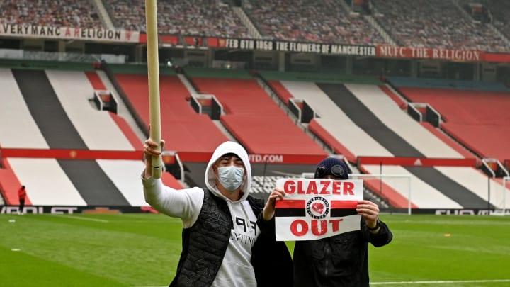Fan-Proteste im Old Trafford