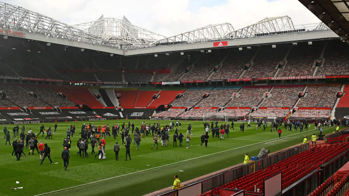 Around 200 Man Utd fans broke into Old Trafford during a larger protest, forcing the Liverpool game tp be postponed