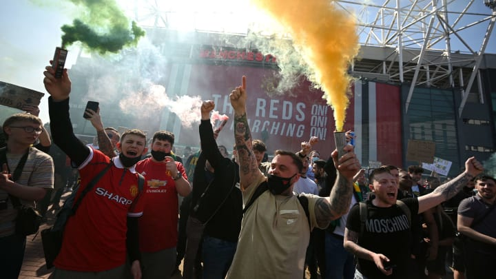 United fans have already demonstrated outside Old Trafford