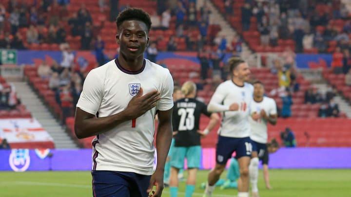 Saka scored his first England goal