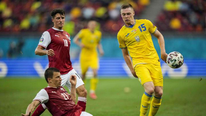 Tsygankov during the Austria game at Euro 2020