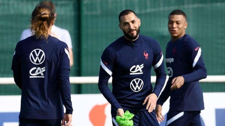 Seleção Francesa Mbappe Griezmann Benzema