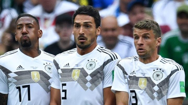 Zahlten am Ende die Zeche für die verkorkste WM 2018 in Russland: Boateng, Hummels und Müller