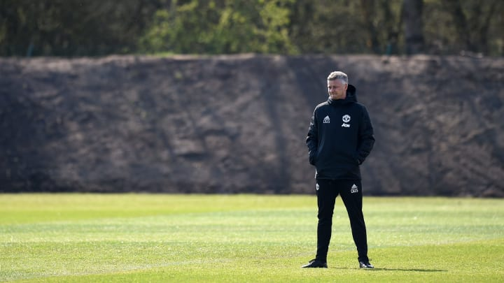 Manchester United's training ground was the site of protest