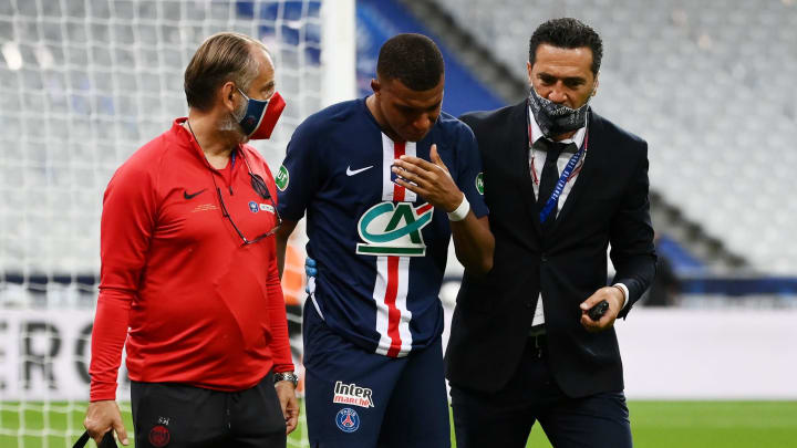 Kylian Mbappe Leaves Coupe De France Final In Tears With Nasty