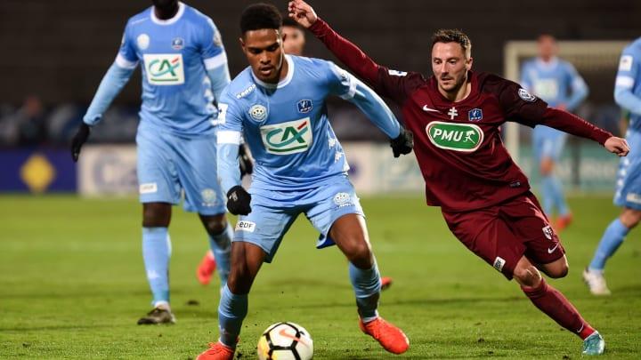 Raveloson (in blue) has joined LA Galaxy