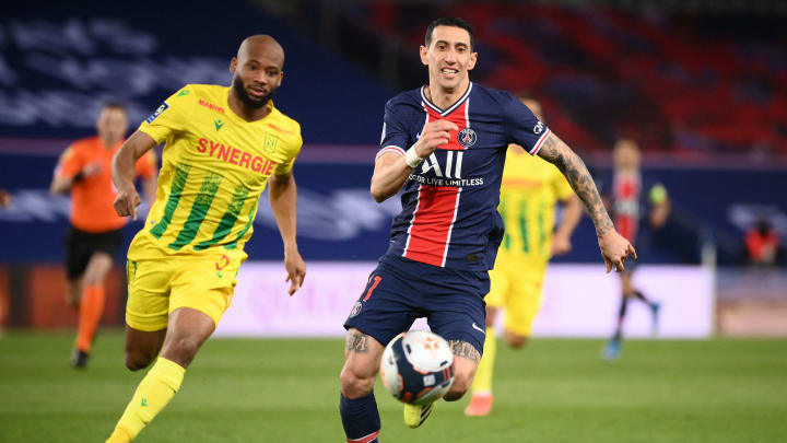 Di María foi substituído no intervalo da partida entre PSG e Nantes