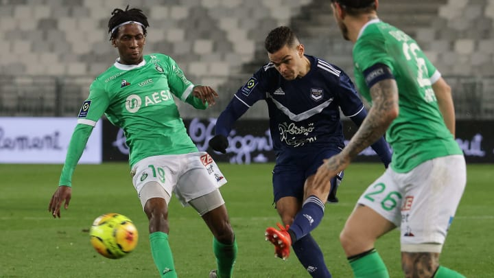 Hatem Ben Arfa face à Saint-Etienne au match aller.