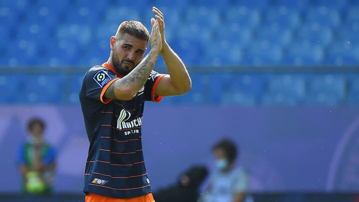 Andy Delort avec Montpellier la saison passée.