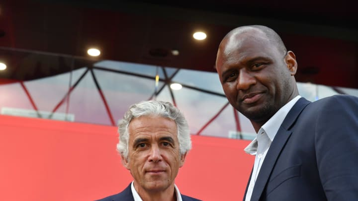 Patrick Vieira et Jean-Pierre Rivere président de l'OGC Nice FBL-FRA-LIGUE1-NICE