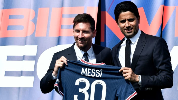 Lionel Messi was presented as a PSG player after leaving Barcelona for free