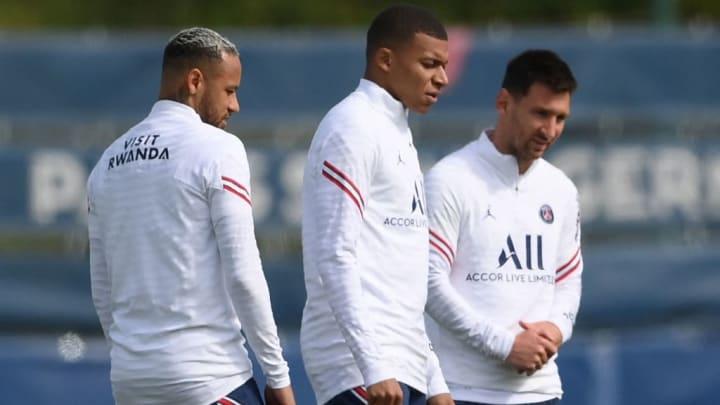 Messi Neymar Mbappé PSG