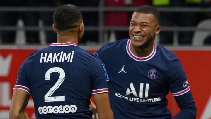 Achraf Hakimi et Kylian Mbappé se sont régalés ensemble contre Reims.