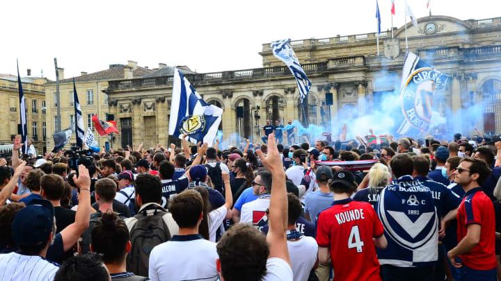 Les supporters girondins lors d'une manifestation contre la direction.