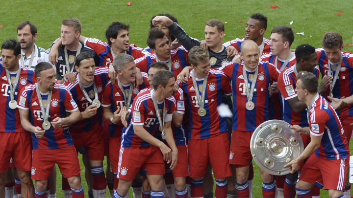 Bayern Munich secured the title during Pep Guardiola's first season in charge