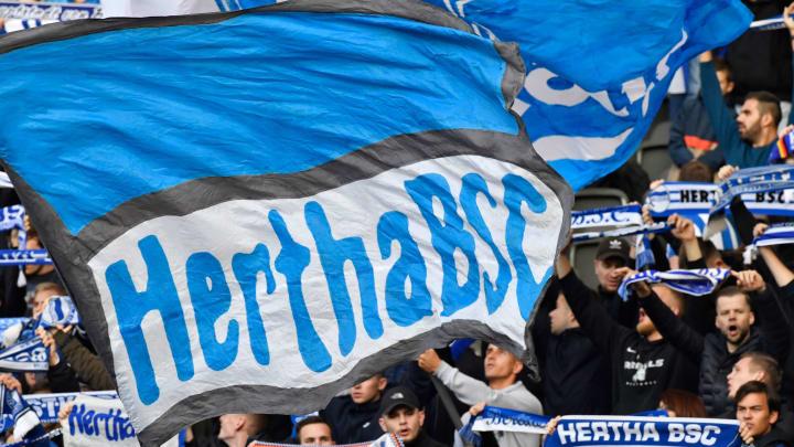 Hertha-Fahnen? Nur im Stadion!