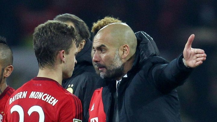 What was Guardiola saying to Kimmich after the draw against Dortmund?