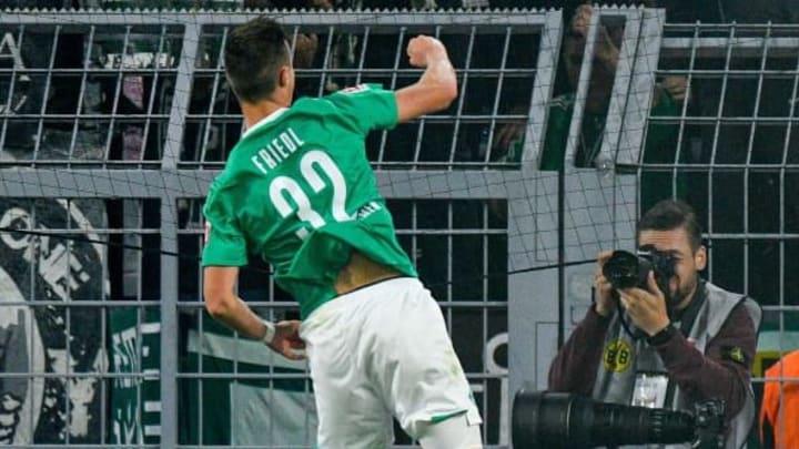 Friedl bejubelt seinen ersten Bundesliga-Treffer am 6. Spieltag gegen den BVB
