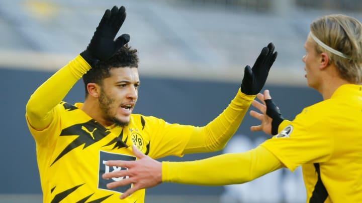 Jadon Sancho, ponta-direita de 21 anos, está na mira do Manchester United e PSG pensando na próxima janela de transferências.
