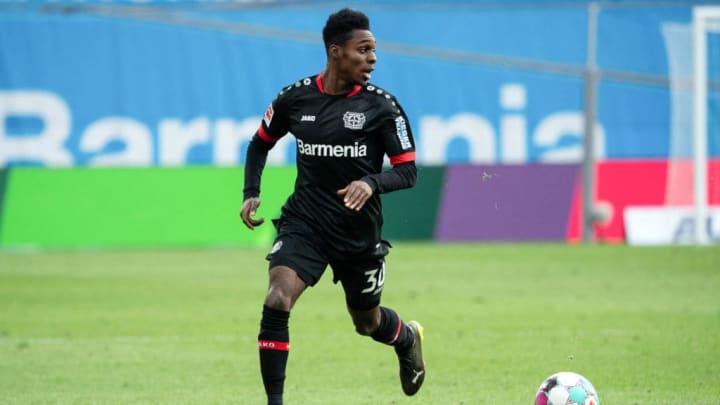 Jeremie Frimpong bringt Speed auf die rechte Abwehrseite von Bayer 04