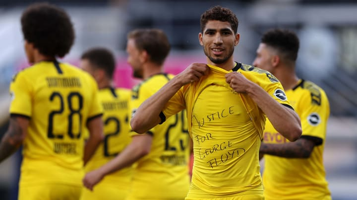 Achraf Hakimi has been on loan at Dortmund since 2018