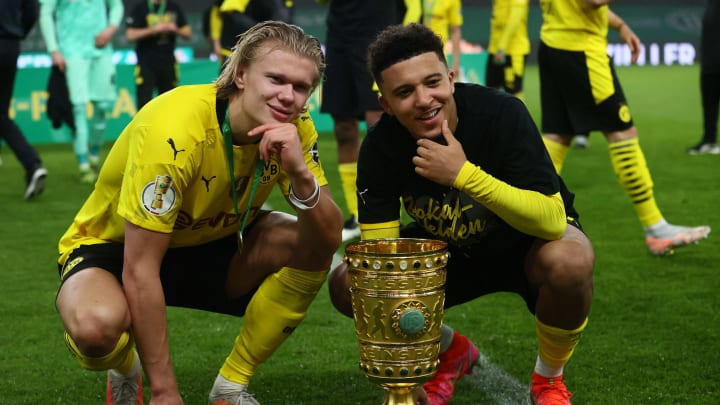 Haaland and Sancho have both been linked with a move to Man Utd