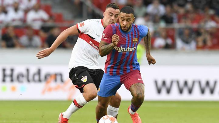 Testspiel des VfB Stuttgart gegen den FC Barcelona