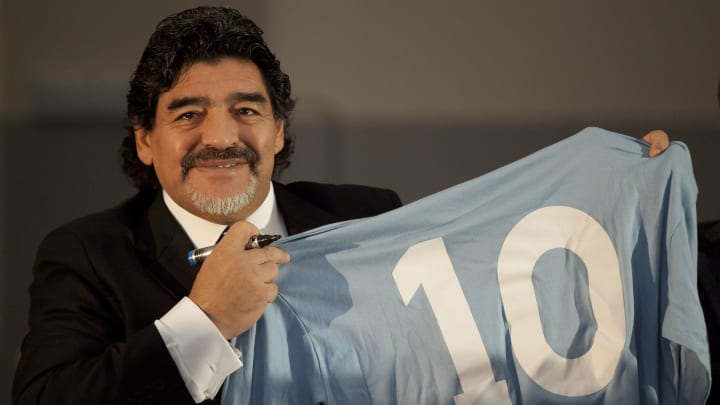 Diego Maradona was synonymous with the number 10 shirt